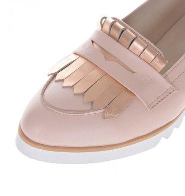 loafers nude rose piele naturala