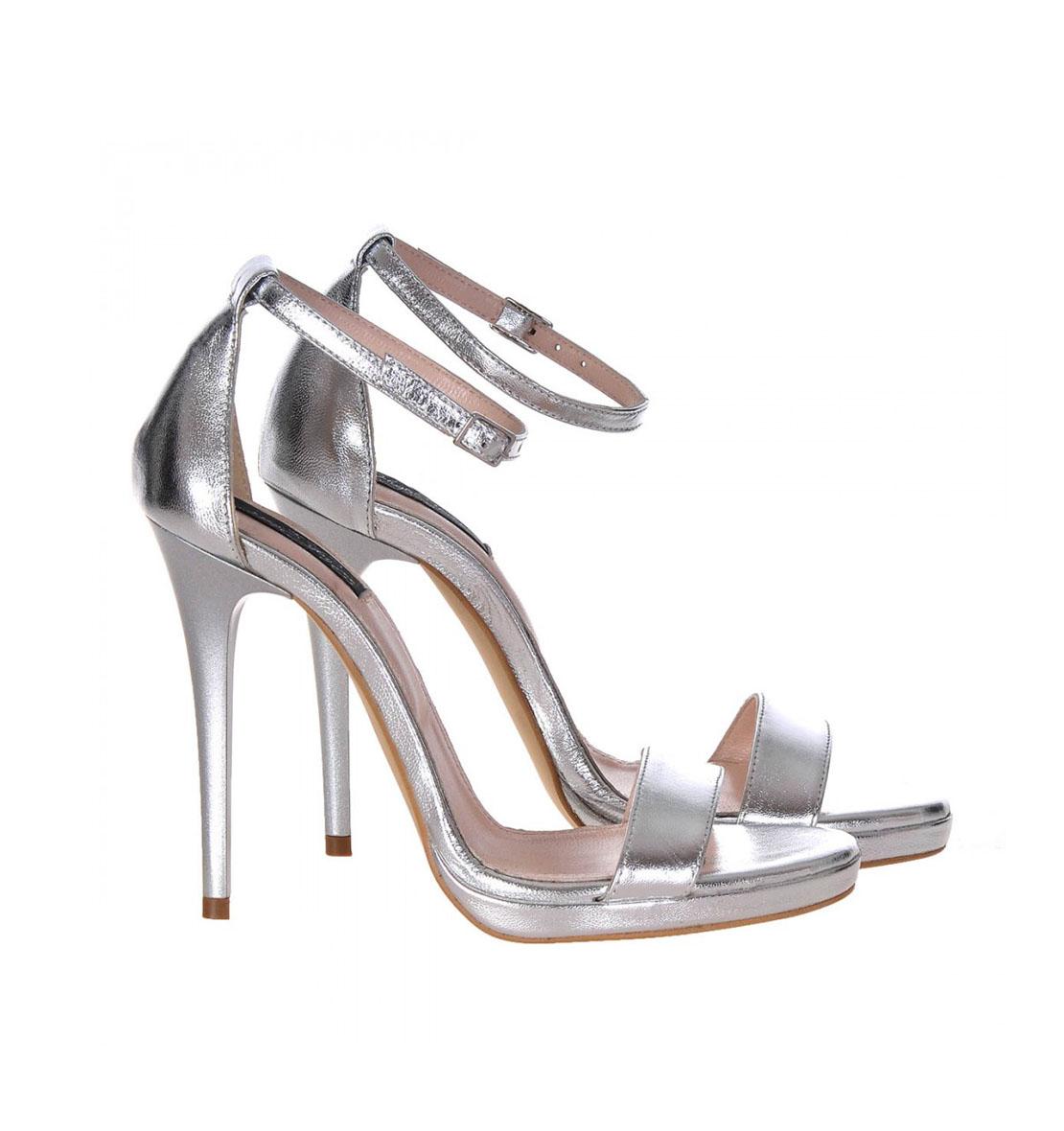 9543c58fb321 Sandale argintii piele toc inalt