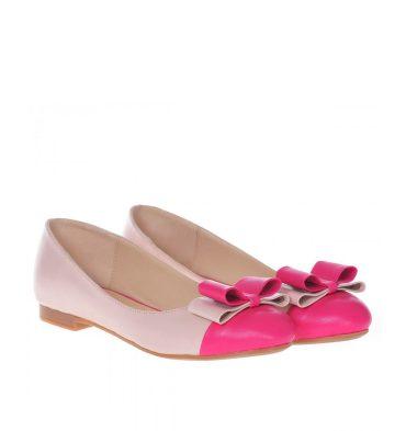 Balerini piele nude roz funda