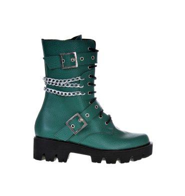 bocanci-dama-verde-turcoaz-piele-1