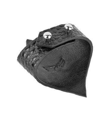 Bratara piele negru croco