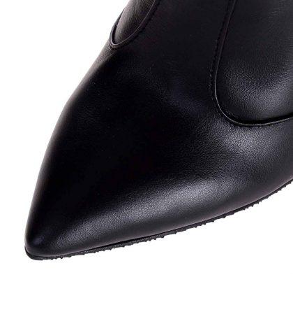 Cizme stiletto negre piele naturala