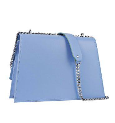 Geanta piele bleu serenity