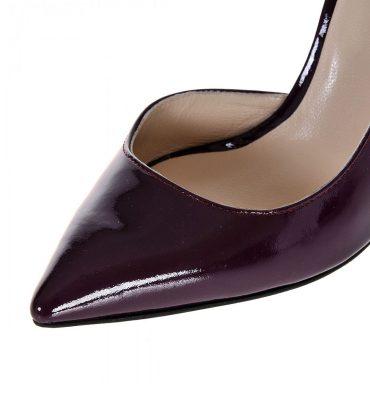 Pantofi dama piele lacuita mov