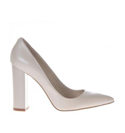 Pantofi mireasa piele ivory