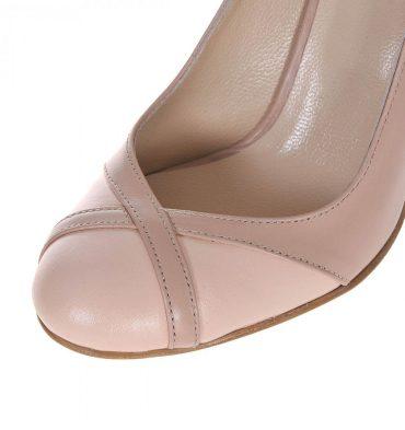 Pantofi office piele nude