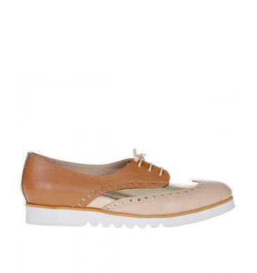 pantofi-oxford-piele-cappuccino-auriu-nude-1