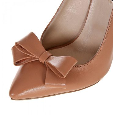 Pantofi piele cappuccino funda