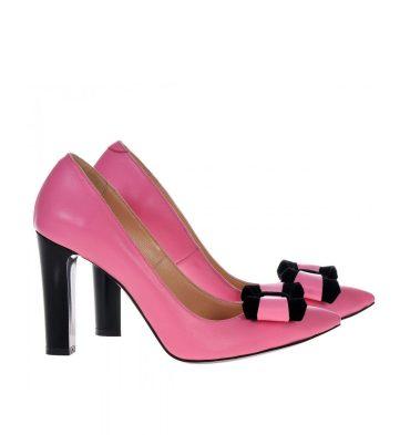 pantofi-roz-piele-toc-gros-1
