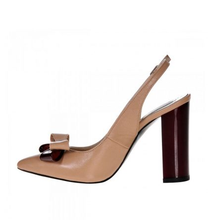 Pantofi stiletto piele decupati