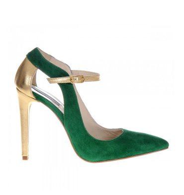 pantofi-stiletto-verzi-piele-intoarsa-auriu-1