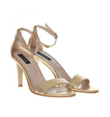Sandale comode aurii piele