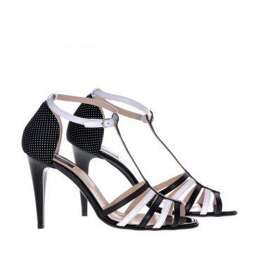 sandale-dama-piele-alb-negru-1