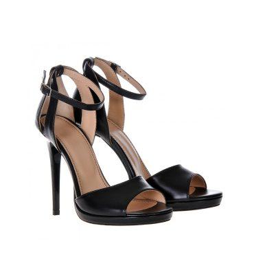Sandale negre piele naturala