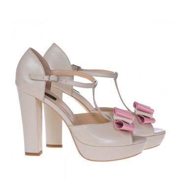 SALE Sandale piele bej ivory