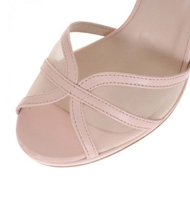 Sandale piele nude plasa bej