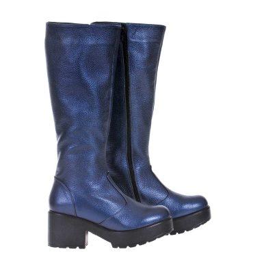 cizme-dama-albastru-metalizat-piele-1