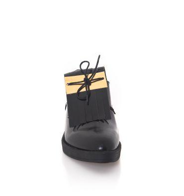 Pantofi oxford negri piele