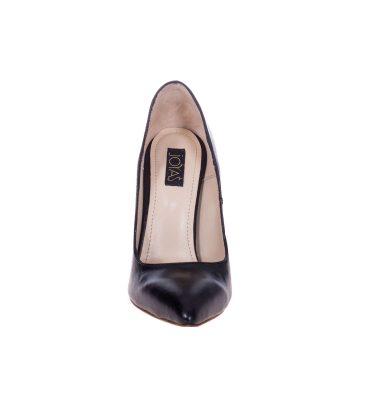Pantofi stiletto negri piele naturala