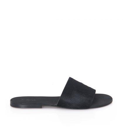 Papuci dama negri piele ponei
