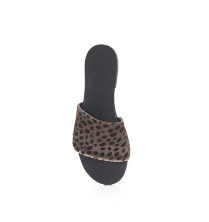 Papuci dama piele animal print