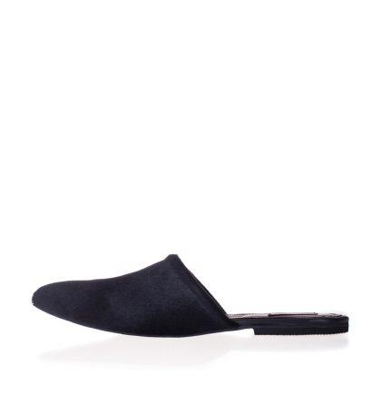 Papuci dama ponei negru