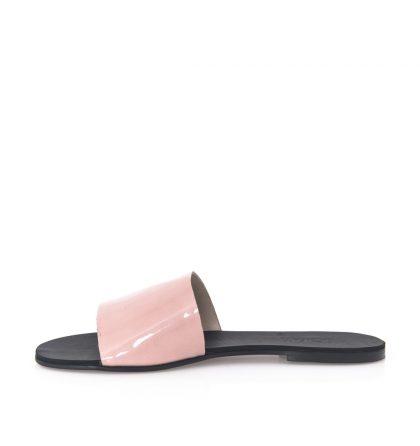 Papuci roz piele lacuita