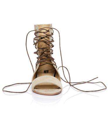 Sandale bej joase piele intoarsa