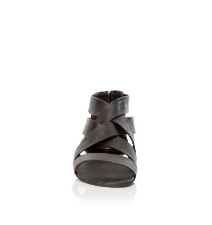 Sandale negre joase piele