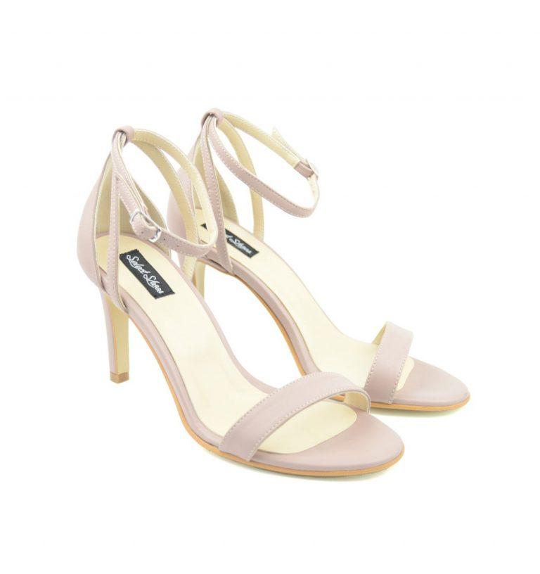 Sandale dama cu toc gros din piele naturala LFX 139