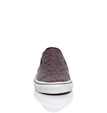 Sneakers burgundy piele naturala