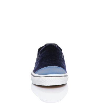 Sneakers dama catifea bleumarin