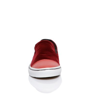 Sneakers dama catifea bordo