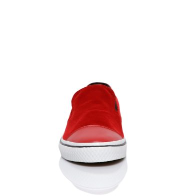 Sneakers dama catifea rosie