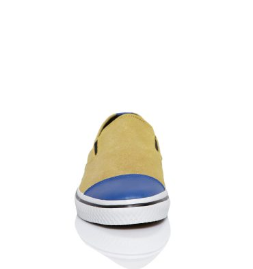 Sneakers dama piele galben albastru