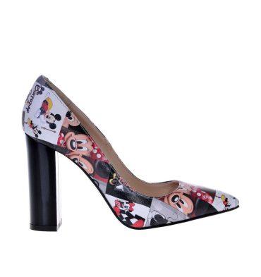 Pantofi dama piele imprimeu Disney