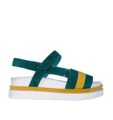 sandale-dama-piele-verde-piele-galbena-1