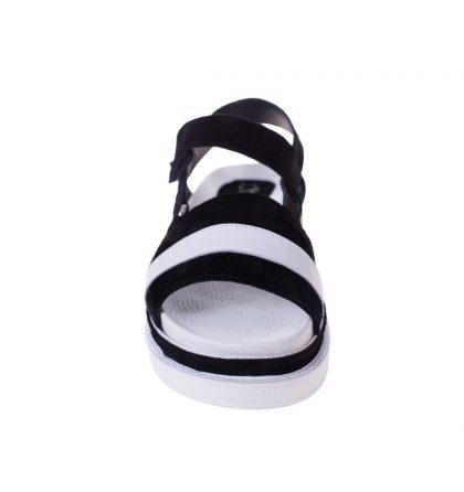 Sandale joase piele neagra piele alba