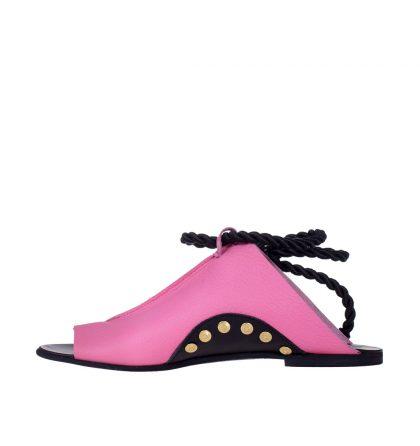 Sandale talpa joasa piele roz