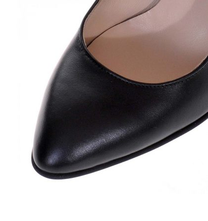 Pantofi office piele naturala neagra