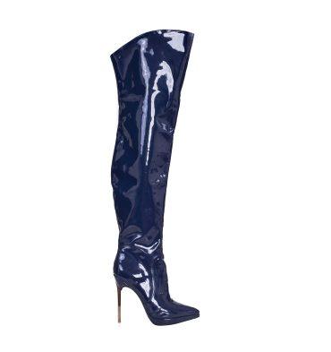 cizme-bleumarin-peste-genunchi-piele-lacuita-toc metalic-1