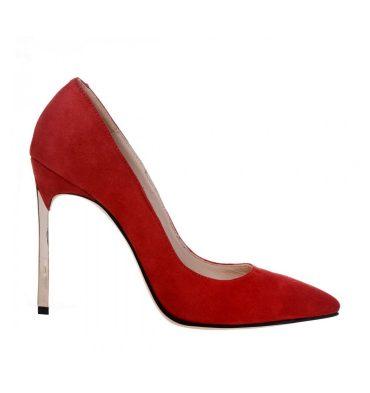 pantofi-stiletto-rosii-toc-auriu-piele-intoarsa-1