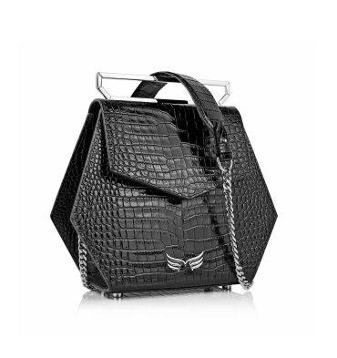 geanta-hexagonala-piele-negru-croco-1