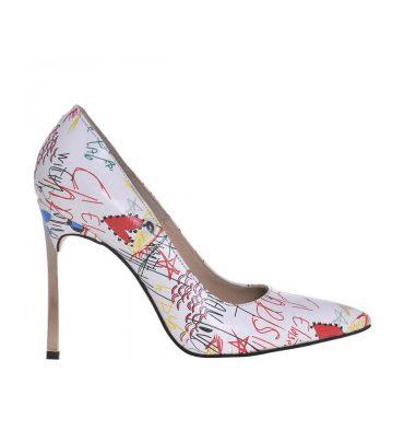 pantofi-stiletto-toc-metalic-piele-alba-imprimeu-1
