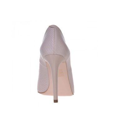Pantofi piele imprimeu sarpe nude toc inalt