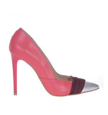 pantofi-stiletto-corai-piele-naturala-insertii-mov-si-argintii-1