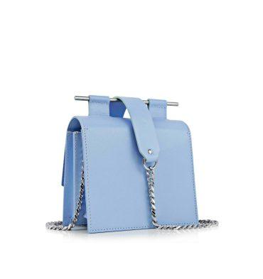 Geanta dama piele bleu serenity