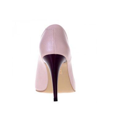 Pantofi decupati piele roz pal piele mov