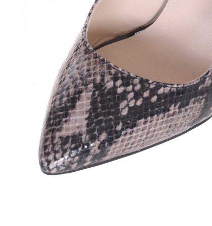 Pantofi stiletto piele imprimeu sarpe