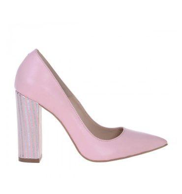 pantofi-roz-pal-toc-gros-piele-imprimeu-1